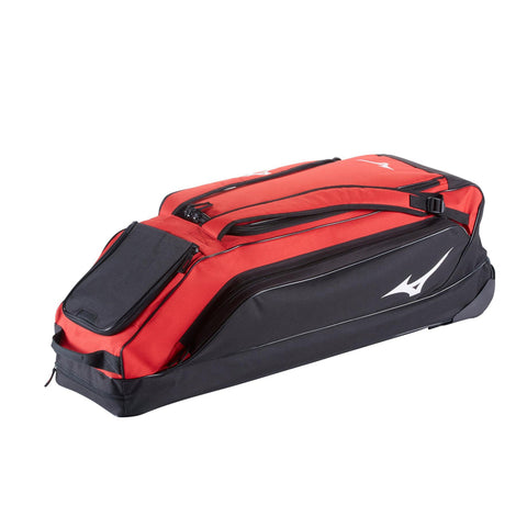 MIZUNO CLASSIC G2 RED WHEELED BASEBALL BAG