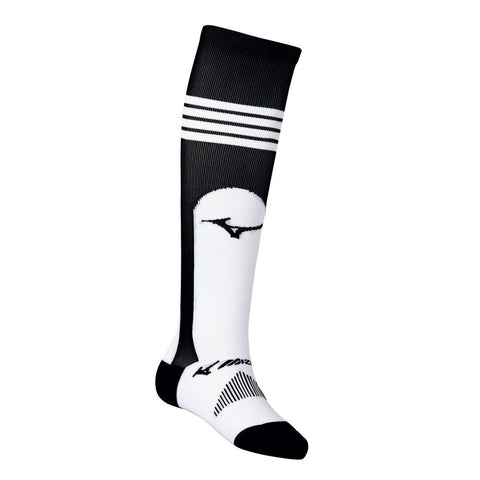 MIZUNO PERFORMANCE BLACK OVER THE CALF STIRRUP SOCK