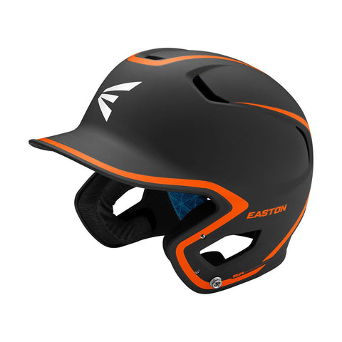 EASTON SENIOR Z5 2.0 2-TONE MATTE BLACK/ORANGE BATTING HELMET