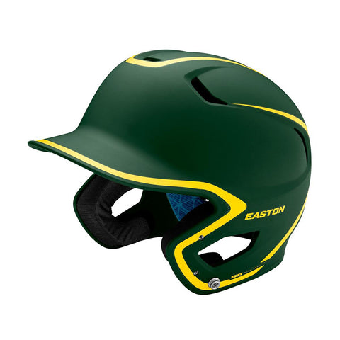 EASTON SENIOR Z5 2.0 2-TONE MATTE GREEN/GOLD BATTING HELMET