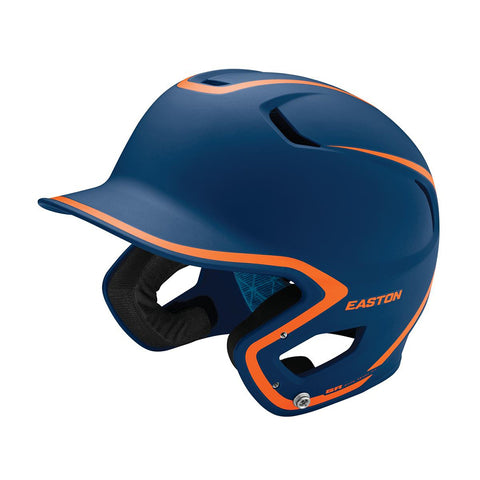 EASTON SENIOR Z5 2.0 2-TONE MATTE NAVY/ORANGE BATTING HELMET