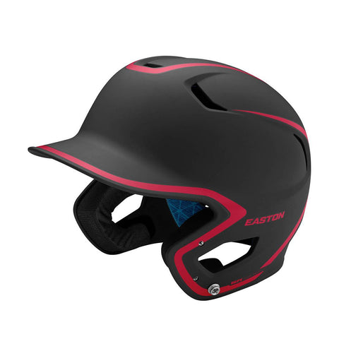 EASTON SENIOR Z5 2.0 2-TONE MATTE BLACK/RED BATTING HELMET