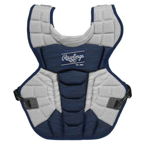 RAWLINGS VELO 2.0 SERIES 17 INCH ROYAL/WHITE CATCHERS CHEST PROTECTOR