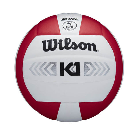 WILSON K1 SILVER RED/WHITE VOLLEYBALL
