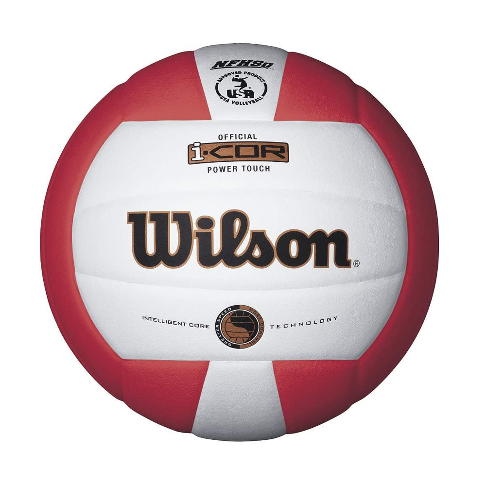 WILSON I-COR POWER TOUCH SCARLET VOLLEYBALL