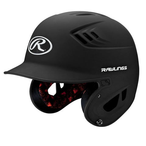 RAWLINGS JUNIOR VELO MATTE BLACK BATTING HELMET
