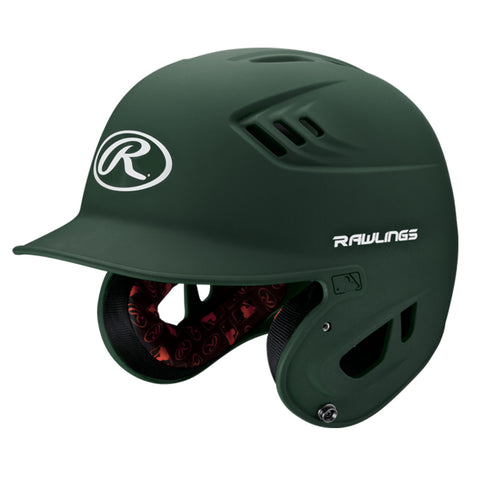 RAWLINGS JUNIOR VELO MATTE GREEN BATTING HELMET
