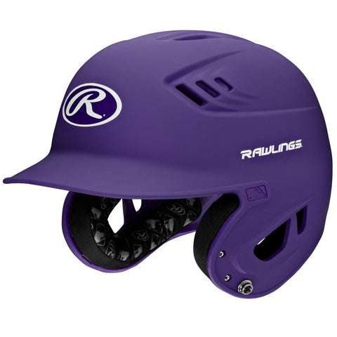 RAWLINGS JUNIOR VELO MATTE PURPLE BATTING HELMET