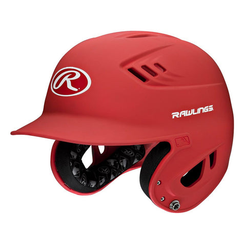 RAWLINGS JUNIOR VELO MATTE SCARLET BATTING HELMET