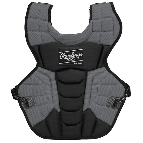 RAWLINGS VELO 2.0 SERIES 15.5 INCH BLACK/GRAPHITE CATCHERS CHEST PROTECTOR