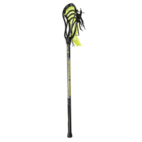 UNDER ARMOUR STRATEGY BLACK/LIME LACROSSE STICK