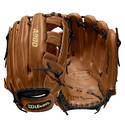 WILSON A900 13 INCH SINGLE POST WEB BRITISH TAN/BLACK SLOWPITCH GLOVE RIGHT HAND THROW