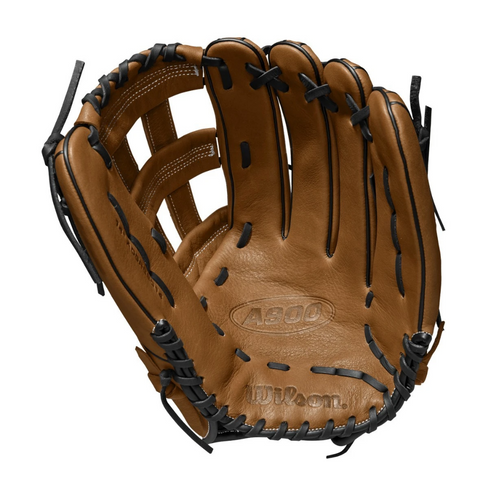 WILSON A900 14 INCH DUAL POST WEB BRITISH TAN/BLACK SLOWPITCH GLOVE RIGHT HAND THROW
