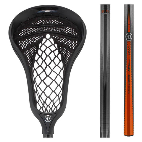 WARRIOR FATBOY BURN WARP PRO BLACK LACROSSE STICK
