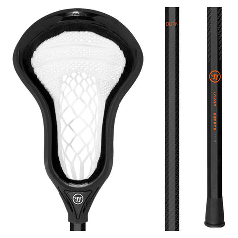 WARRIOR FATBOY BURN WARP NEXT BLACK LACROSSE STICK
