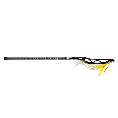 WARRIOR JUNIOR FATBOY NEXT BLACK LACROSSE STICK SIDE