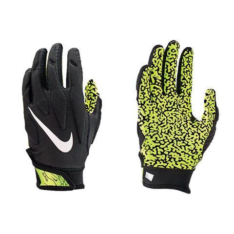 NIKE YOUTH SUPERBAD 5.0 BLACK/VOLT FOOTBALL GLOVE