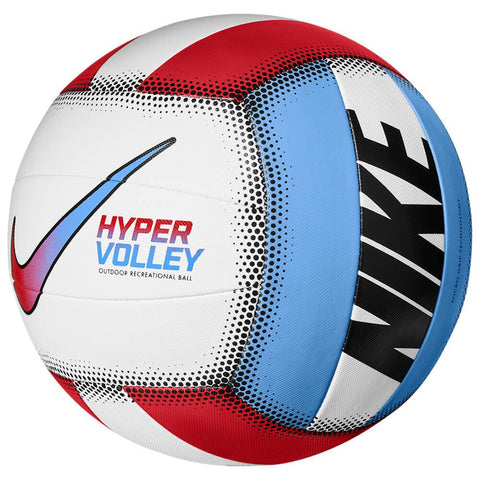 NIKE HYPERVOLLEY RED/BLUE 18P BEACH VOLLEYBALL ANGLE