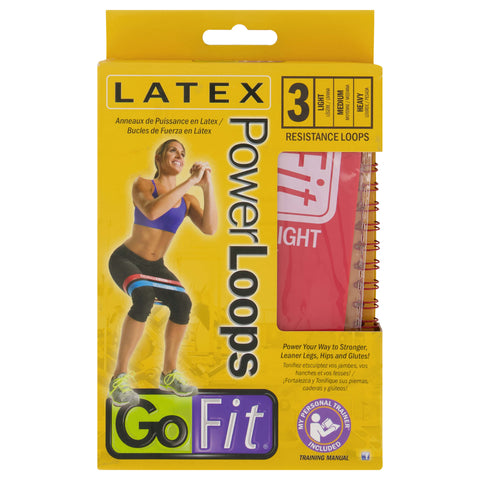 GOFIT POWER LOOPS RESISTANCE BAND 3 PACK BOX
