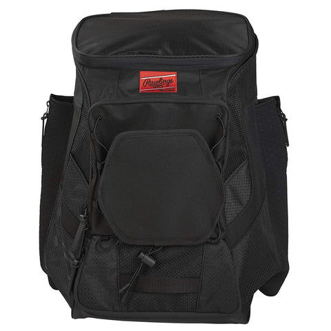 RAWLINGS R600 PLAYERS BLACK BASEBALL BACKPACK