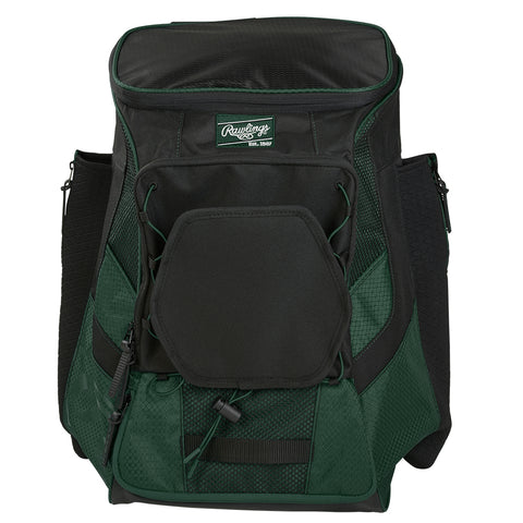 RAWLINGS R600 PLAYERS GREEN BASEBALL BACKPACK