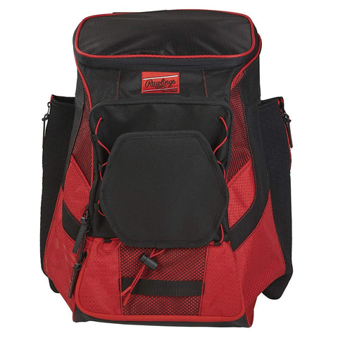 RAWLINGS R600 PLAYERS SCARLET BASEBALL BACKPACK