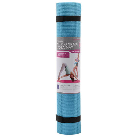 ZENZATION 1/4'' YOGA STICKY MAT WITH STRAP - AQUA