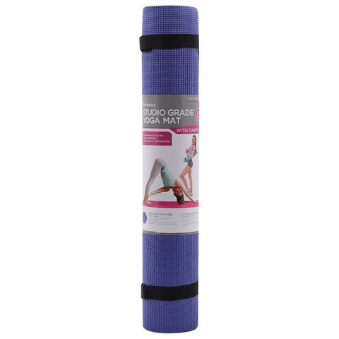 ZENZATION 1/4'' YOGA STICKY MAT WITH STRAP - BLUE