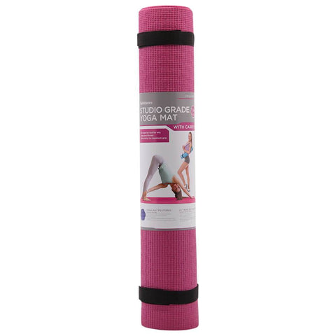 ZENZATION 1/4'' YOGA STICKY MAT WITH STRAP - BURGUNDY