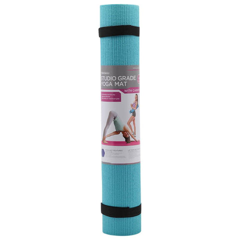 ZENZATION 1/4'' YOGA STICKY MAT WITH STRAP - TEAL