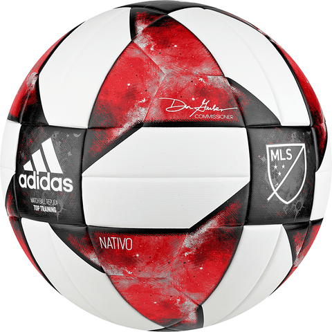 ADIDAS MLS TOP TRAINING SIZE 5 WHITE/BLACK/ACTIVE RED SOCCER BALL