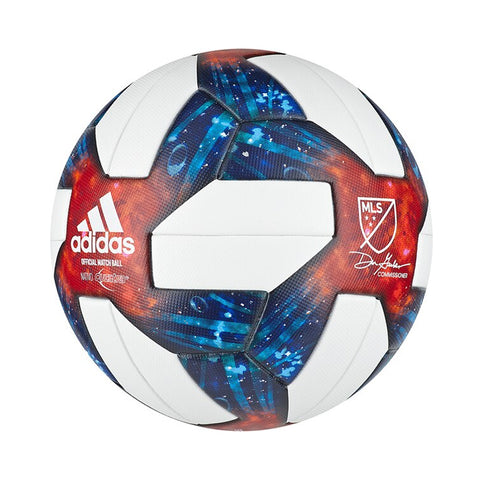 ADIDAS MLS MINI BALL WHITE/BLACK/BOBLUE./ACTIVE RED SOCCER BALL