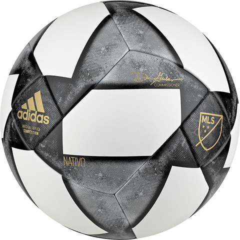 ADIDAS MLS COMPETITION SIZE 5 WHITE/BLACK/MARIGOLD SOCCER BALL