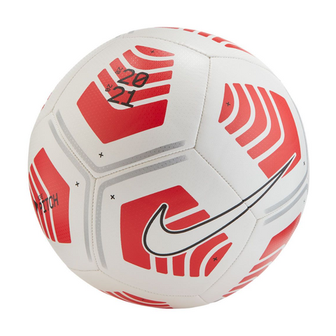 NIKE PITCH WHITE/CHILE RED/BLACK SOCCER BALL
