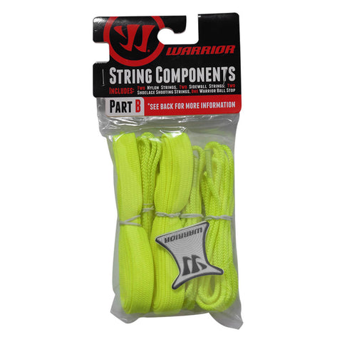 WARRIOR NEON YELLOW LACROSSE STRING KIT