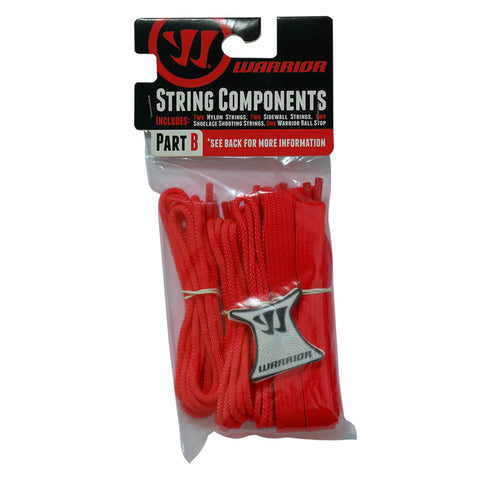 WARRIOR RED LACROSSE STRING KIT