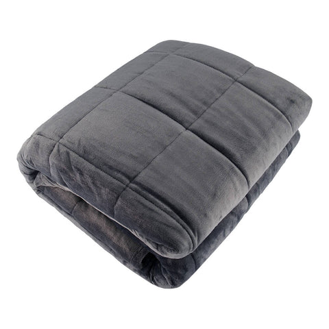 PUR SERENITY SOLID SMOKEY GREY 15LB (48''X72'') REVERSIBLE WEIGHTED BLANKET TOP