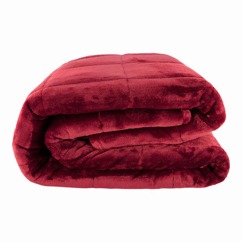 PUR SERENITY EARTH RED 15LB (48''X72'') REVERSIBLE WEIGHTED BLANKET SIDE