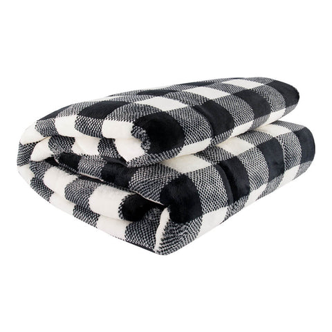 PUR SERENITY GIRLS BLACK/WHITE BUFFALO 6LB (40''X60'') REVERSIBLE WEIGHTED BLANKET