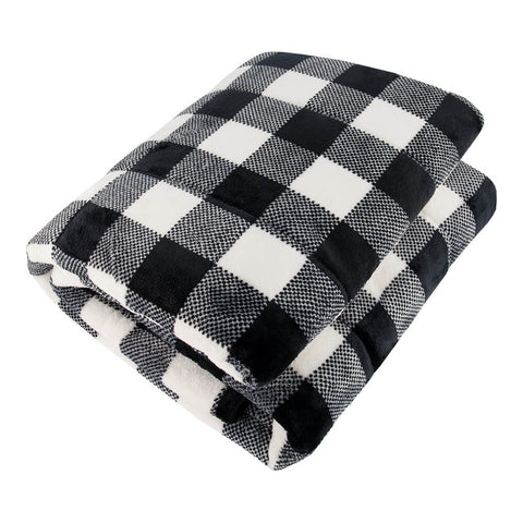 PUR SERENITY GIRLS BLACK/WHITE BUFFALO 6LB (40''X60'') REVERSIBLE WEIGHTED BLANKET TOP