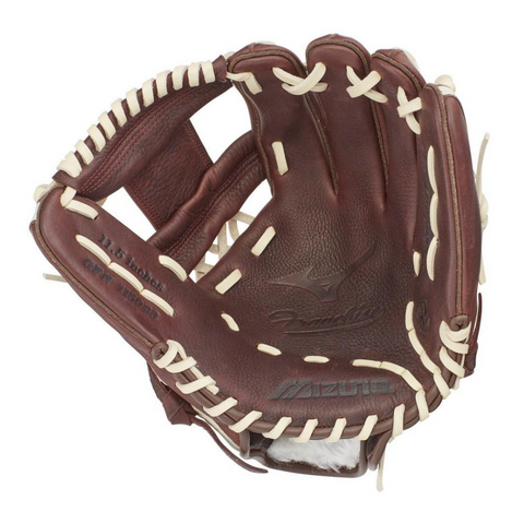 MIZUNO FRANCHISE COFFEE/SILVER 11.5 INCH BASEBALL GLOVE RIGHT HAND THROW