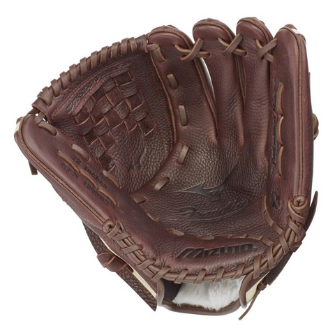 MIZUNO FRANCHISE COFFEE/SILVER 12 INCH BASEBALL GLOVE RIGHT HAND THROW
