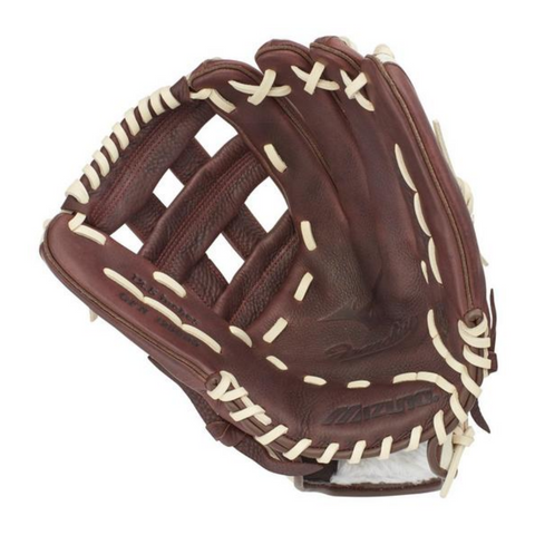 MIZUNO FRANCHISE COFFEE/SILVER 12.5 INCH BASEBALL GLOVE RIGHT HAND THROW