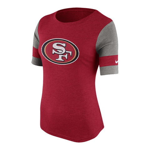 NIKE WOMEN'S SAN FRANCISCO 49ERS STADIUM FAN TOP