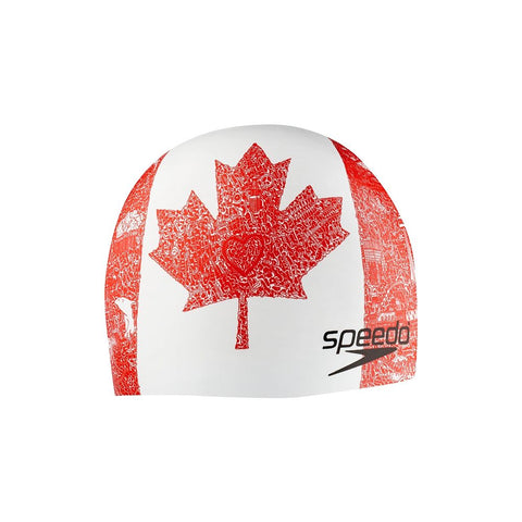 SPEEDO WORLD TOUR SWIM CAP RED