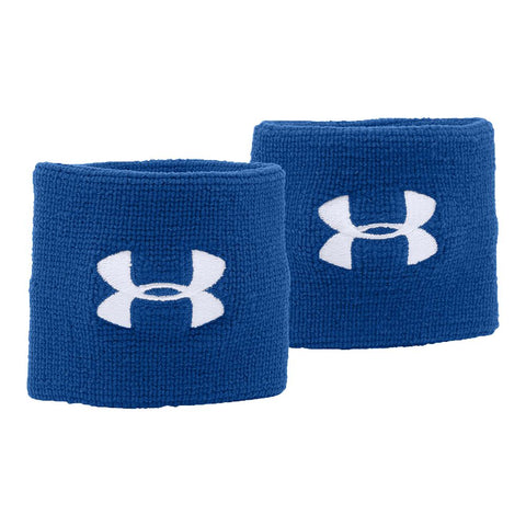 UNDER ARMOUR 3'' PERFORMANCE WRISTBAND ROYAL/WHITE