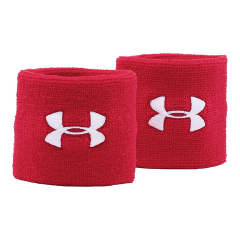 UNDER ARMOUR 3'' PERFORMANCE WRISTBAND RED/WHITE
