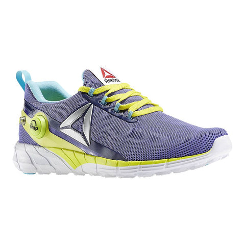 REEBOK GIRLS GRADE SCHOOL ZPUMP FUSION 2.5 KIDS SHOE PURPLE/YELLOW