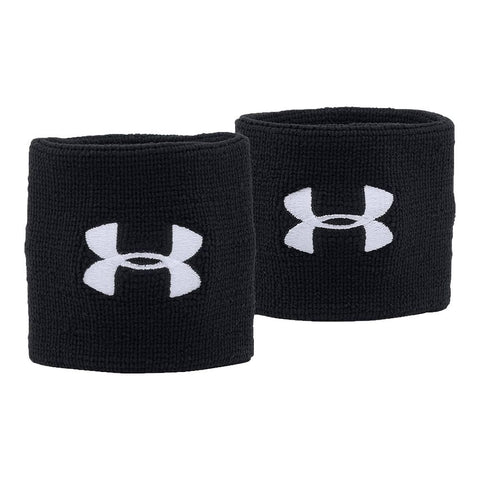 UNDER ARMOUR 3'' PERFORMANCE WRISTBAND BLACK/WHITE