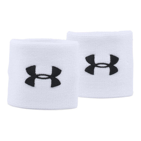 UNDER ARMOUR 3'' PERFORMANCE WRISTBAND WHITE/BLACK